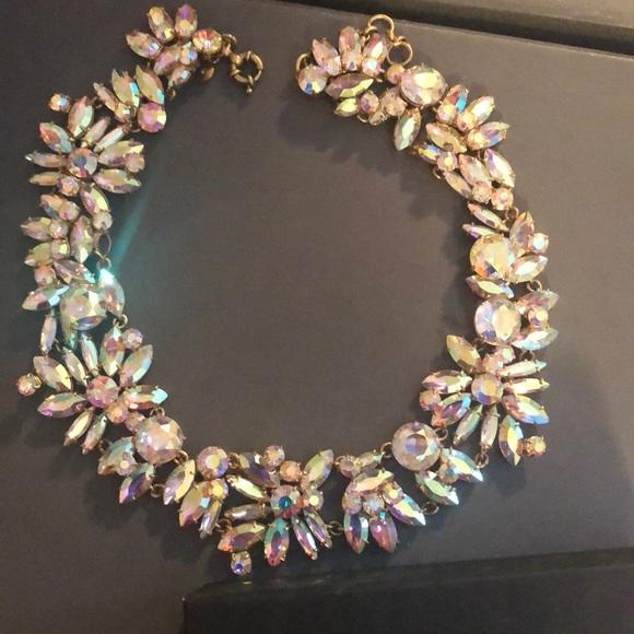 J crew iridescent necklace